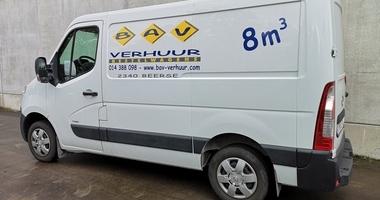Bestelwagen met laadruimte van 8m³